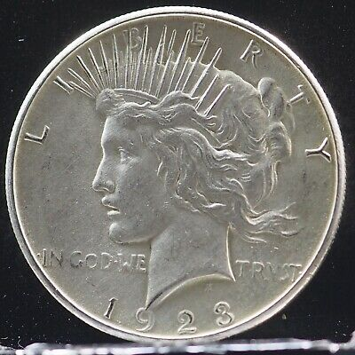 1923-S MIRROR LIKE Peace Silver Dollar 90% Silver $1 Coin #AB81