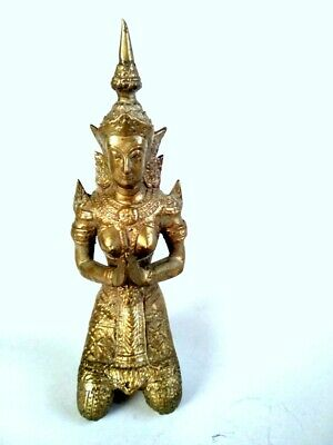 Nice Old Vintage Tibetan Brass Antiques Figurine Copper Statue China With A Hat