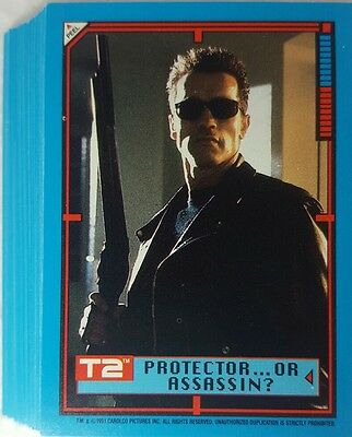 TERMINATOR II T2 STICKER Trading CARD SET of  44 Topps  1991