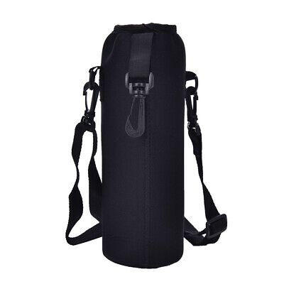 AU 750ML Water Bottle Heat-insulated Cover Sports Carrier Bag + Shoulder Strap