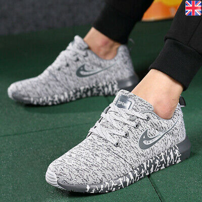 Mens Womens Trainers Lace Up Memory Foam Casual Walking Running Gym Sports Shoes