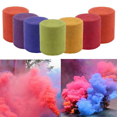 Colorful Cake Smoking Effect Show Round Bomb Stage Photography Aid Toy Gifts