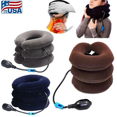 Cervical Collar Neck Pain Relief Traction Brace Support Health Device Inflatable