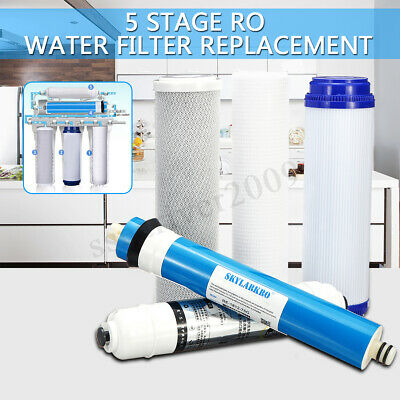 5 Stage Reverse Osmosis FULL Replacement Water Filter Kit with 75 GPD Membrane