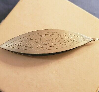 Vintage Silver Tatting Shuttle Ornate Design
