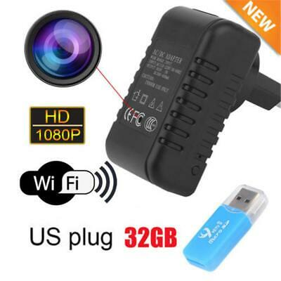 Mini 1080P HD Spy Camera Adapter Wall Charger WiFi DV Video Motion Security Cam