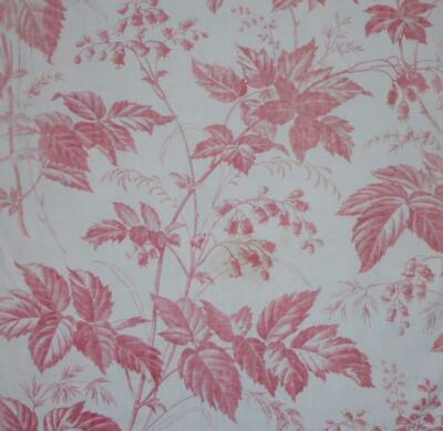 BEAUTIFUL GENTLY FADED 19th CENTURY FRENCH LINEN COTTON TOILE DE JOUY 96