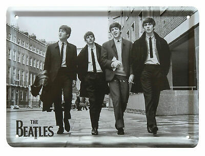 The Beatles LIVE AT THE BBC Metal Sign Steel Small Fridge Magnet (8cm x 11cm)