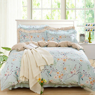 Floral Doona Quilt Duvet Cover Set Single Double Queen King Size Bed Pillowcases