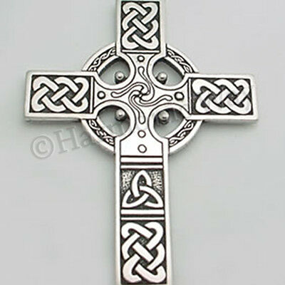 """""""Extra Large"""" CELTIC CROSS ~ Detailed Pendant Necklace Celtic Knot Work"""