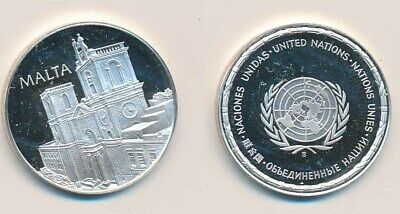 Malta: 12.9g 925 Silver Proof Medal (32mm), UN Countries