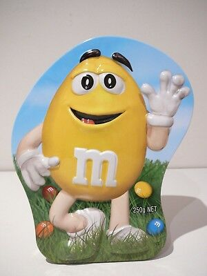 Yellow M&M's Confectionery Container Candy Lolly Tin Advertising