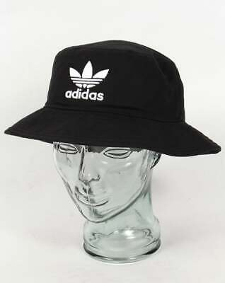 a910feea8b887 adidas Originals Bucket Hat in Black with embroidered trefoil logo in white