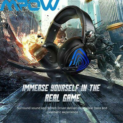 2019! MPOW 3.5mm Gaming Kopfhörer mit Mikrofon LED Surround Sound Stereo Headset