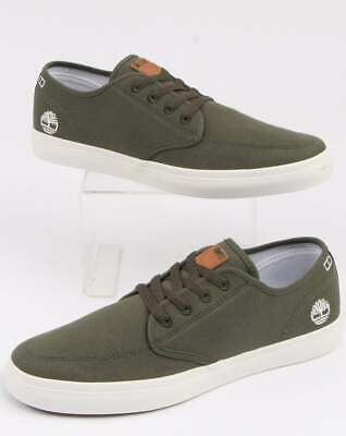 TIMBERLAND UNION WHARF Derby Trainer in Khaki Green canvas