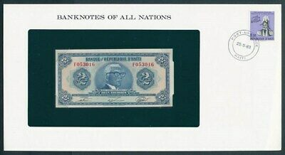 Haiti: 1980 2 Gourdes Banknote & Stamp Cover, Banknotes Of All Nations Series