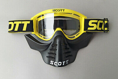SCOTT V8 vintage Motocross BMX Brille Goggles mit Venturi Face Guard Mask