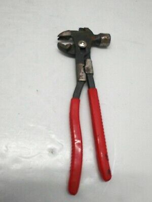 Vintage Pliers Hammer Combination Multi Functioning Tool W/ Insulated Handles