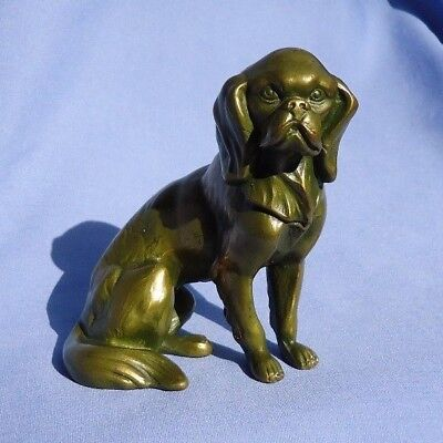 bronze CAVALIER KING CHARLES SPANIEL 1930s metal dog