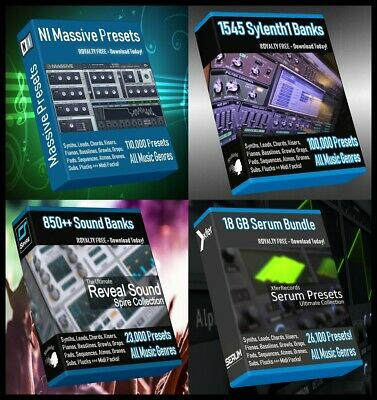 Ultimate Presets Bundle - Serum + Massive + Spire + Sylenth1 - 260.000 Presets