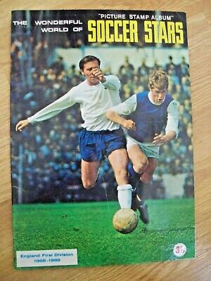 Fks World Of Soccer Stars Sticker Album 1968/69,complete,vgc