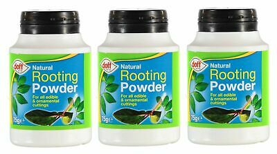 3 x DOFF NATURAL ROOTING POWDER FOR EDIBLE PLANTS & CUTTINGS 75G - DIPPING POT