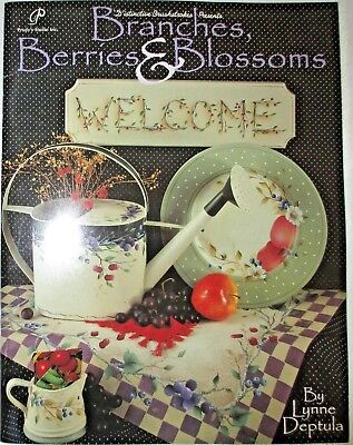 BRANCHES BERRIES BLOSSOMS L. Deptula Decorative Painting Instruct Patterns BOOK
