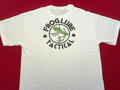 online store 3af44 f2f29 NEW Mens Froglube Tactical White 100% Cotton T-Shirt with 1 oz Paste Sample