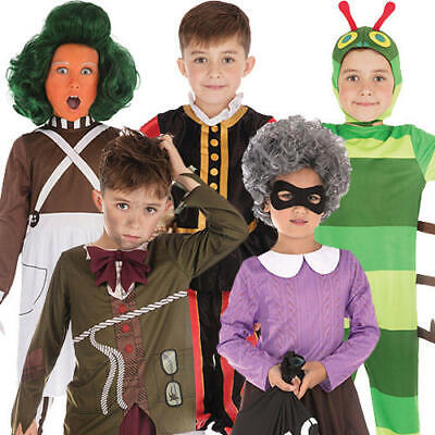 Wolrd Book Day Kids Fancy Dress Boys Girls Storybook Fairy Tale Childs Costumes