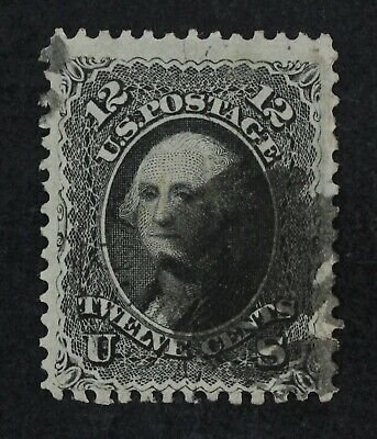 CKStamps: US Stamps Collection Scott#69 12c Washington Used Tiny Tear CV$100