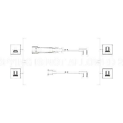 Ignition Leads Kit Cable VW Audi Seat:PASSAT,GOLF II 2,JETTA II 2,POLO,80
