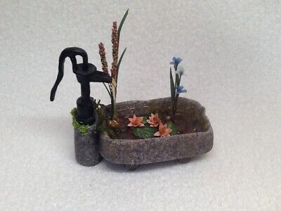 12th scale dolls house garden water feature plus extra's