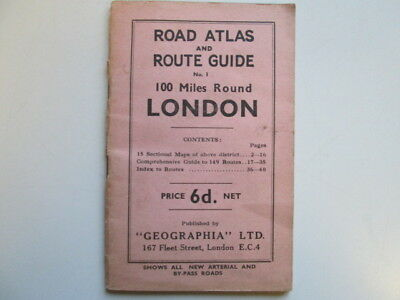 Good - Road Atlas And Route Guide No. 1: 100 Miles Round London - Road Atlas And