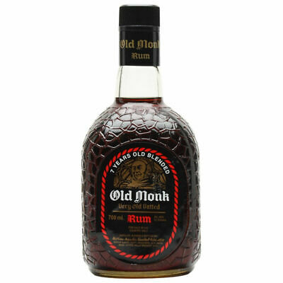 Old Monk Rum - 7 Years Old | 1000 ml 1Liter | brauner indischer Rum | 42,8% Alc.