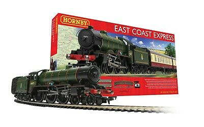 Hornby R1214 East Coast Express Complete Starter Steam Train Set