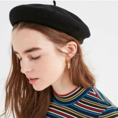 206c94ade83ce NEW with Tags Brixton Audrey Women s Black Wool Beret Hat Size S (7   56cm