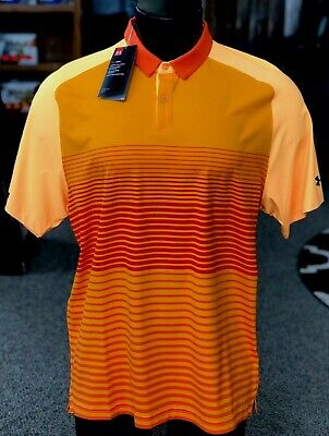 732ee6c0243 Under Armour Iso-Chill Power Play Golf Polo Shirt UM0821 Papaya/Orange (L