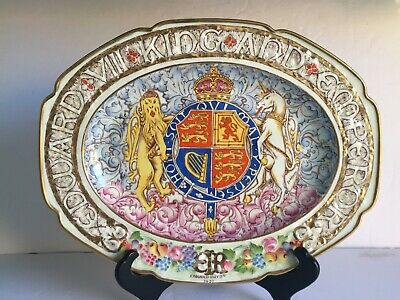 Scarce 1937 Edward VIII King and Emperor Coronation Paragon China Platter