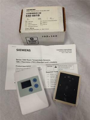 Siemens 540-661B RS540 Electronic Room Sensor Thermistor - White