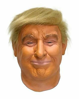 Realistic Donald Trump Mask Halloween Costume President Latex Face Hair Real