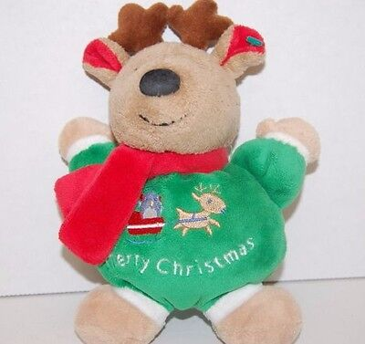 New  NWT~CARTERS~REINDEER RATTLE TOY~FIRST 1ST CHRISTMAS WINTER~BABY BOYS GIRLS