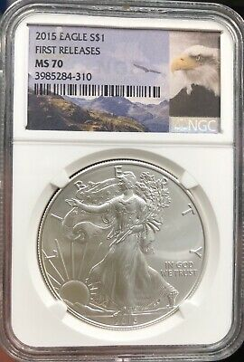 2015 American Silver Eagle NGC Certified MS 70 First Release