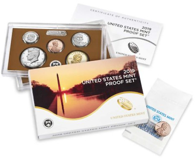 """2019 U.S. Mint Proof Set w/ Rare West Point """"W"""" Proof Lincoln Penny"""