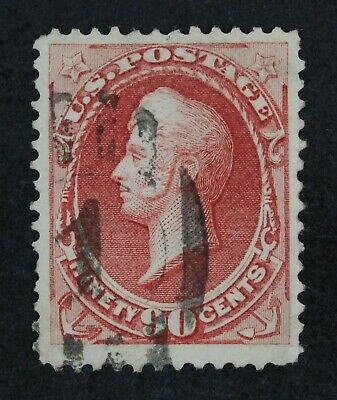 CKStamps: US Stamps Collection Scott#155 90c Perry Used Sealed Tear