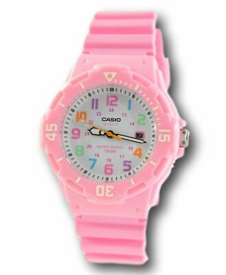 Casio Women's Colorful Dial Pink Resin Band Analog Watch LRW-200H-2BVCF