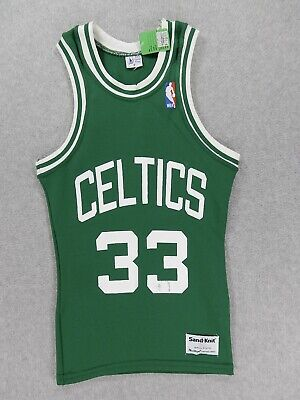 huge selection of c9699 13564 NWT Boston Celtics NBA Vintage Sand Knit Basketball Jersey ( 33 Bird) Kids  Small
