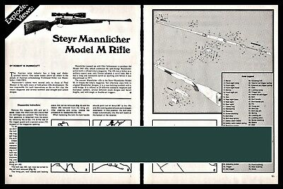 STEYR MANNLICHER MODEL M Rifle Exploded View Parts List