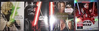 Star Wars Complete saga  Episodes 1-8 EXCLUSIVE Blu-ray/DVD 15 discs