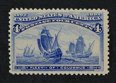 CKStamps: US Stamps Collection Scott#233 4c Columbian Mint NH OG CV$165