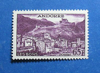 Andorra French Administration Scott #140 Vf Mnh 1958 65f Purple Les Bons Stamps